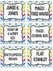 Book Bin and Classroom Labels {Primary Chevron}