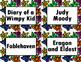 Book Bin/Shelf Organizer Cards by Series for Grades 3-5 (star)