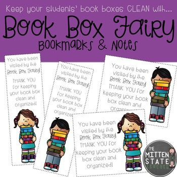 Book Box Fairy Bookmarks and Notes