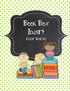 Book Box Insert - COLORS
