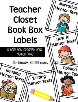 Book Box Labels - Teacher Mentor Texts