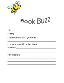 Book Buzz for building enthusiasm