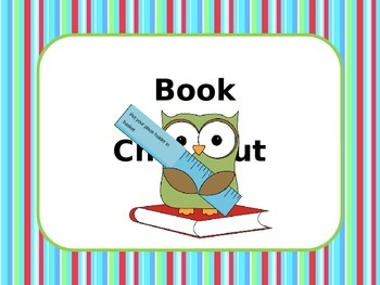Book Check Out  / Book Return Poster