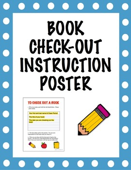 Book Check-Out Instruction Poster and System for Classroom