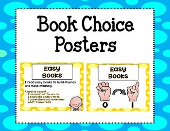 Book Choice Posters