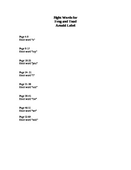 Book Circle Lesson Plan using  Frog and Toad by Lobel