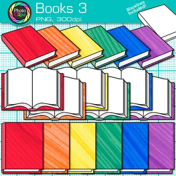 School Books Clip Art {Back to School Supplies for Classro