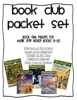 Book Club Comprehension Packet Set for Magic Tree House Bo