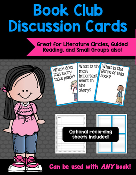 Book Club Discussion Cards {Fiction}