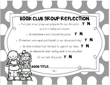 Book Club Group Reflection