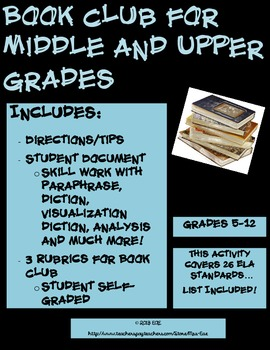 Book Club for Middle and Upper Grades
