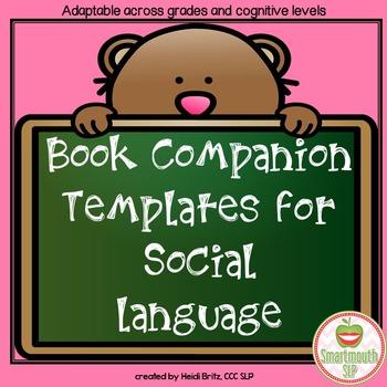Social Skills Book Companion Templates
