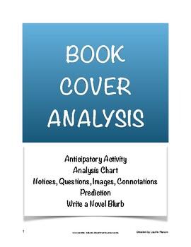 Book Cover Analysis; Novel Anticipatory Set; Book Jacket B