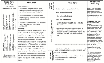 Book Cover Project with Template and Instructions by Mr. See ...