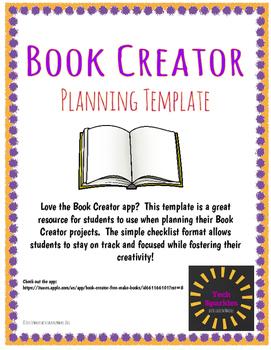 Book Creator Planning Template