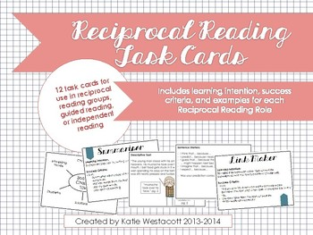 Book Detectives Task Cards for Reciprocal Reading, Guided Reading