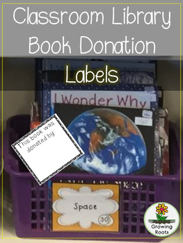 Book Donation Label FREEBIE