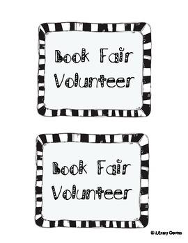 Book Fair Volunteer Badge