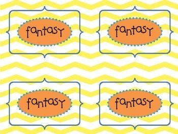 Book Genre Labels/Book Bin Labels