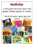 Book Genre Poster-Reading Street