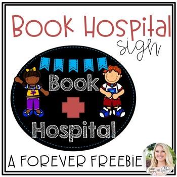 Book Hospital Sign