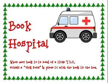 Book Hospital Sign - Camping Theme