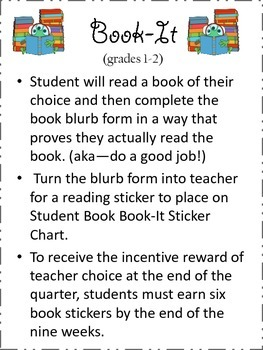 Book-It Reading Incentive