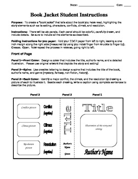 Book Jacket Book Report Project