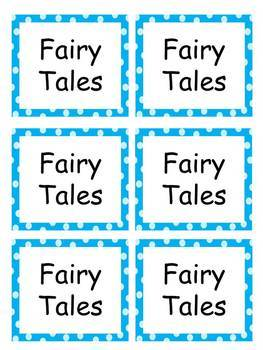Book Labels-Blue Circles Background