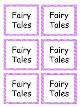 Book Labels-Pink Wavy