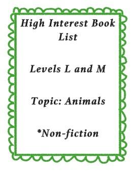 Reading List: High Interest Animal Books - L and M