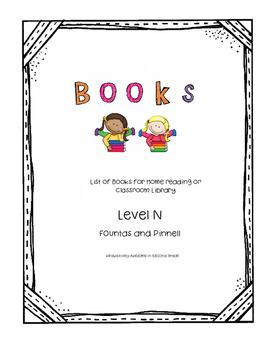 Book List Level O