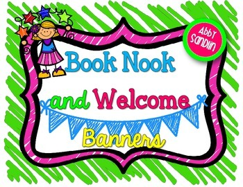 Book Nook and Welcome Banners {Freebie!}