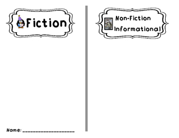 Book Order Non-fiction and Fiction Sort