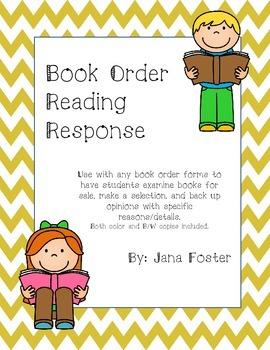 Book Order Reading Response