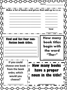 Book Order Scavenger Hunt
