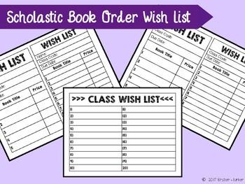 Book Order Wish List