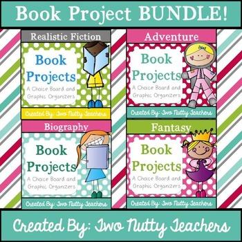 Book Project: Four Genre Choice Boards Bundle