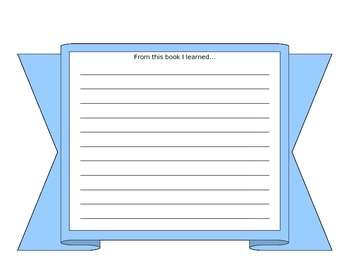 Book Project- Component- What I Learned