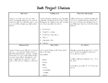 Book Project Menu