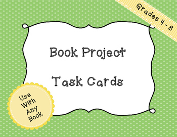 Book Project Task Cards