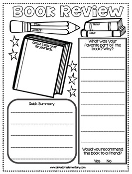 Book Review Activity- Hold your students accountable with