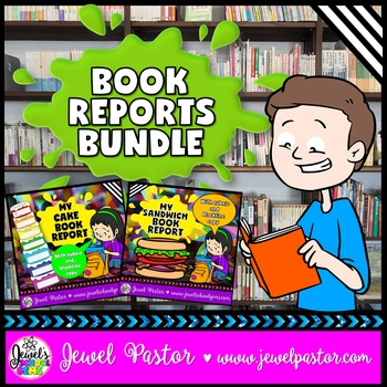 Creative Book Reports BUNDLE (Sandwich and Cake Templates