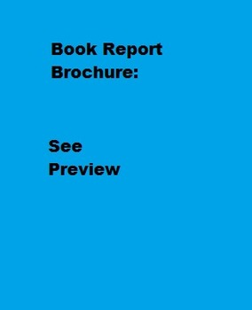 Book Report Brochure