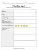 Book Report Templates (Fiction and Non-Fiction)