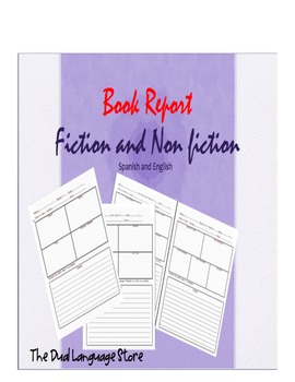 Book Report Fiction and Non fiction Bilingual
