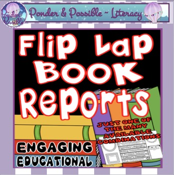 Book Report ~ Flip Lap Book for Reading / Text / Novel Responses