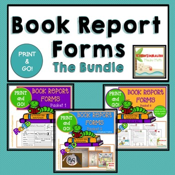 Book Report Forms - The Bundle- Fiction and Non Fiction -P