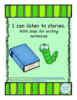 Book Report: I can listen to stories, With lines for writi