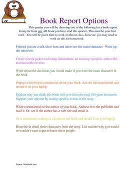 Book Report Ideas for 4-6th Grade